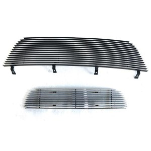 2pcs Main Upper + Lower Bumper Polished Aluminum Car Grille for Ford Explorer 2002-2005 Chrome