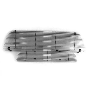 2pcs Main Upper + Lower Bumper Polished Aluminum Car Grille for Ford Explorer 2002-2005 Chrome