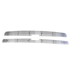 2pcs 4mm Horizontal Overlay Billet Grilles for 07-13 Chevrolet Silverado 1500