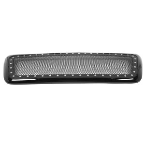 ABS Plastic Car Front Bumper Grille for 2004-2008 FORD F-150 ABS Plastic Stainless Steel Coating QH-FD-023 Black