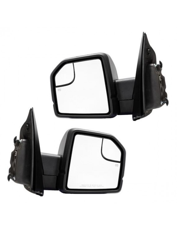 For 2015-2018 Ford F150 (8 pin) Power/Heated Side Mirrors Replacement Left/Right